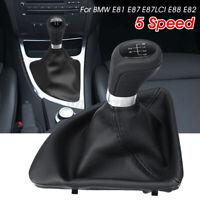 5 Speed Gear Shift Knob Shifter Gaiter Boot Cover For BMW 1 Series E87 E88 E82
