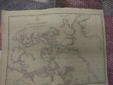 Artic Regions of N.America cir1863 Dispatch Atlas Engraved E Weller Framed20more