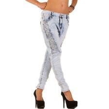 Niedrige stonewashed Damen-Jeans Hosengröße 38