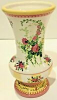 LAURA ASHLEY English Country Style Floral Rose & Ivy Ceramic Vase  (from FTD)