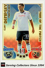2010-11 Topps Match Attax Man Of Match Foil No 406 Clint Dempsey (Fulham)