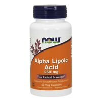 NOW Foods Alpha Lipoic Acid 250 mg 60 Veg Capsules FREE SHIPPING. MADE IN USA