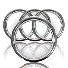 "Set of 4 18"" Chrome Wheel Rim Trim Rings Beauty Bands Rims Rally Steel Wheels"