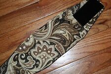 Male dog diaper-belly band-wrap-quilted - CREAM BLACK PAISLEY by angelpuppi