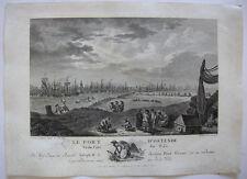 Carl Guttenberg le port D 'Ostenda porto Ostenda belge ORIG chiave in rame 1781