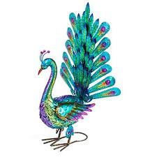 """Gartenvogel Deko-Vogel Pfau """"Elsa"""" Metall glänzend bunt 60 x 71 cm"""