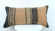 12x24 Kilim Lumbar Cushion Cover Turkish Tribal Vintage Ethnic Pillow A230-1