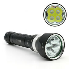 Professionnel 4x CREE l2 DEL Diving Flashlight plongée Lampe Torche Torch avec batterie