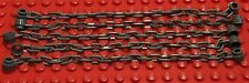 5 X NEW LEGO Chains 21 Links Dark Bluish Gray 30104 Long Minifig Utensil Lot 40
