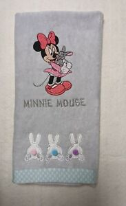 Disney Minnie Mouse Easter Bunny Hand Towel - embroidered