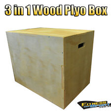 "20"" 24"" 30"" Wood Plyometric Plyo Timber Jump Box Yoga Crossfit Home Gym Exercise"