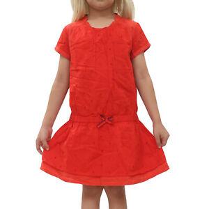 Boss Hugo Boss Kids Girl Red Mini dress Eyelet Embroidered Cotton 8 Years 203624