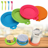 3/4PCS Pet Dog Cat Food Can Cover Silicone Reusable Standard Size Storage Lids