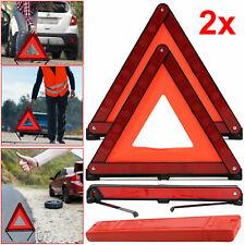 2x Reflective Warning Sign Foldable Triangle Car Hazard Breakdown EU Emergency