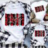 Womens Valentine's Day Love Printed Short Sleeve Tops Blouse T-Shirt Tee Da3