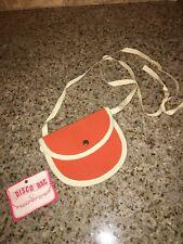 VINTAGE 70'S pyramid belt company DISCO BAG SATCHEL SHOULDER BAG ORANGE W/TAGS