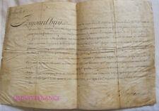 BREVET D'ENSEIGNE DE VAISSEAU 1738 signé par le Comte de Maurepas