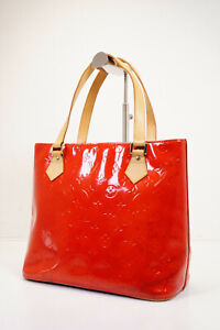 Auth Pre-owned Louis Vuitton Vernis Red Houston Shoulder Tote Bag  M91092 210353
