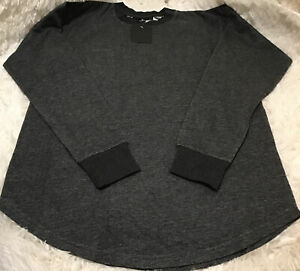 Black Scale Long Sleeve Cotten  GREY Men XS BLVCK SCVLE Streetwear NWT Free Ship
