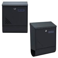 Briefkasten Edelstahl Anthrazit Wandbriefkasten Postkasten mit Zeitungsfach NEU