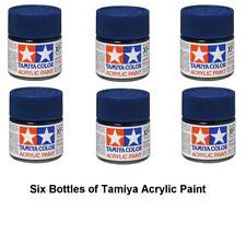Tamiya 81708 Mini Acrílico Plano XF8 Azul 10 ml Botella Pintura Acrílica MODELISMO