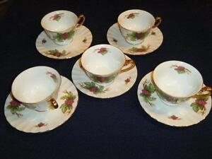 MAY WINE BY BARRINGTON 5 CUPS & SAUCERS