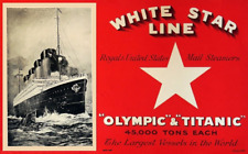 White Star Line Olympic & Titanic Brochure Cover  7 x 11