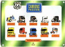 Plaquette de 11 pin's Camions Passion tracteurs porteurs Editions Atlas bon état