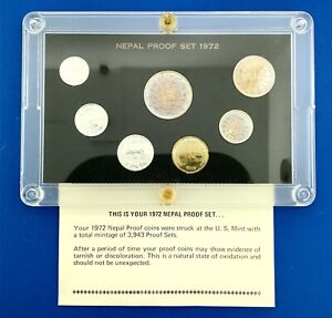 1972 Nepal Proof Set Original Box