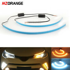 "18"" Car Tube LED Strip Light Daytime Runnning DRL Headlight Turn Signal L&R 2PCS"