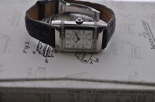 Jaeger Lecoultre Ladies Reverso Diamond Bezel Steel Watch Ref:265.842.082B. B&P.