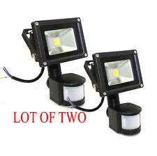 Lot Two Security Motion Sensor 10W LED Flood light Waterproof Outdoor Warm White