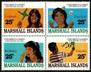 Marshall Islands 1990 - Island Children's Games - Block of 4 - Scott 369a - MNH