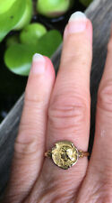 """Rare, Authentic French Art Nouveau Era Ring, """"Joan of Arc"""" Jehanne,  by Becker."""
