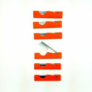 Derma Safe Folding Razor Knife Orange for SERE Survival Tool Kit Blade bulk lot