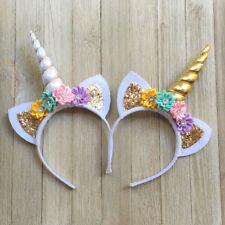 1x Magical Unicorn Horn Head Band Party Kids Hair Headband Fancy Dress Cosplay