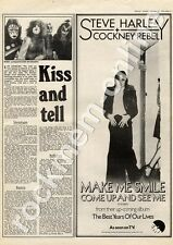 Cockney Rebel Make Me Smile EMI 2263 MM5 Tour '45 Advert Kiss Interview 1975