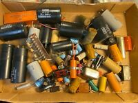 Big Lot of vintage Capacitors - Can & Paper Electrolytic Wax 1940s-1970s