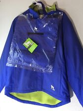 Glow Dog Mens Small Highly Reflective Fleece Lined Walking Jacket Blue/Green