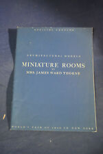 1940 New York Worlds Fair Architectural Models Miniature Rooms