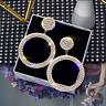 Fashion Long Crystal Stud Earrings Women Gold Silver Drop Dangle Wedding Jewelry