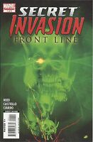 Secret Invasion Comic 1 Front Line Cover A First Print 2008 Reed Ciardo Marvel