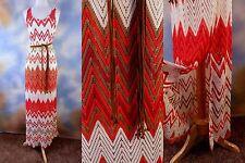 NEW $119 SANCTUARY chevron crochet lace braided belt maxi boho dress SZ: M