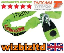 Thatcham Approved Motorbike Security Mammoth Lock & Chain Length 1.8m LOCM003