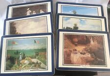 6 Claude Monet Cloverleaf Table Place Mats  Unused In Box
