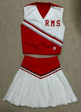 Real Rms Cdt Cheerleading Uniform Red White Pleated Skirt Jr High School Cheer