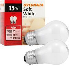 Sylvania Soft White Incandescent A15 Bulb Medium Base 15W 120V 2-Bulbs Total