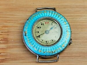 Vintage Decorative Ladies Pinset Trench Watch for Parts, 0.925 Silver Case