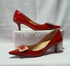 ROGER VIVIER Red Heels Pumps Shoes Size 37 runs small