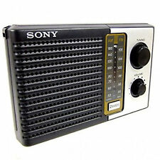Sony 2 Band Fm/Am Portable Battery Transistor Radio Compact Small Travel Size